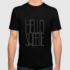 Hello Sweetie - by Genu WORDISIAC™ TYPOGY™ Mens Fitted Tee MEDIUM Black