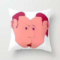 rorschach Throw Pillows featuring RORSCHACH by kasi minami