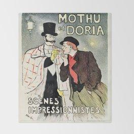 Mothu et Doria Throw Blanket