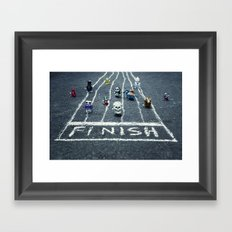 the wind up race Framed Art Print