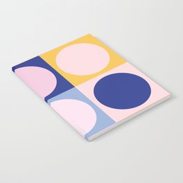 Colorful Circles in Squares Notebook