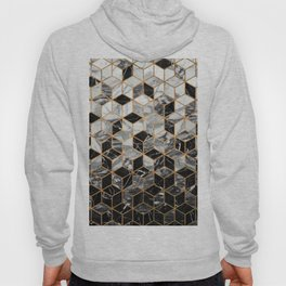 Marble Cubes - Black and White Hoody