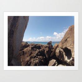 Baths, Virgin Gorda, Brittish Virgin Islands, Rock Formation Art Print