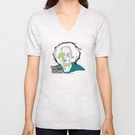 Doc Brown_INK - Back to the Future Unisex V-Neck