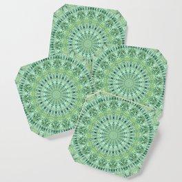 Mary Jane Mandala (green) Coaster