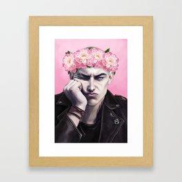 Flower Crown Ronan Framed Art Print