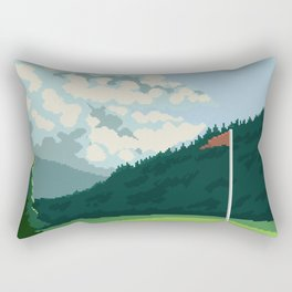 Golf Course Rectangular Pillow