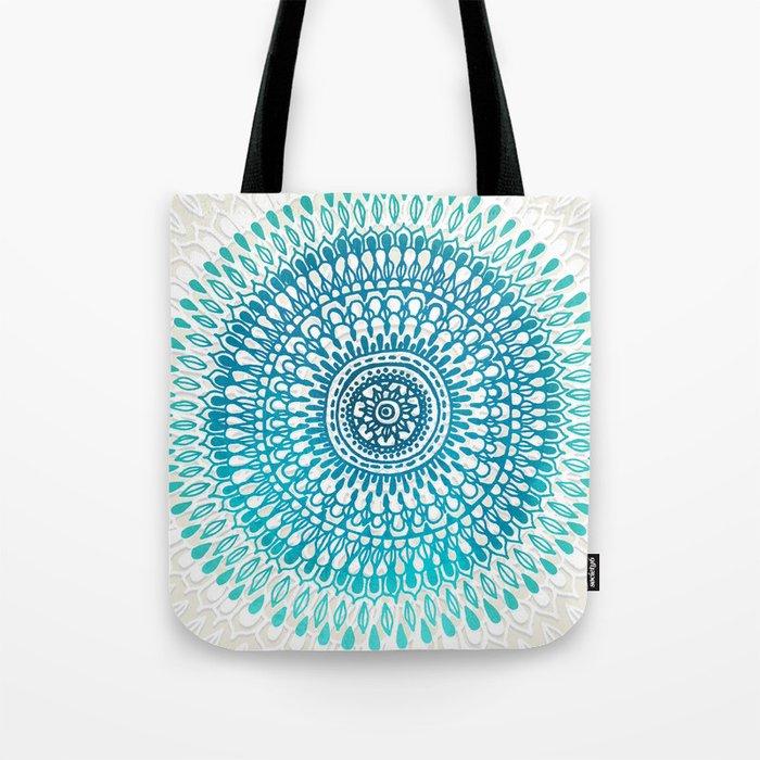 Radiate in Teal + Emerald Tote Bag