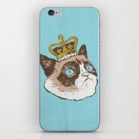 Grumpy King iPhone & iPod Skin