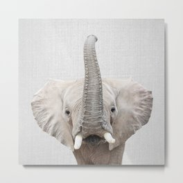 Elephant 2 - Colorful Metal Print