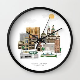 Kansas City Plaza Wall Clock