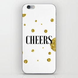 Champagne Quotes Cheers POP FIZZ CLINK Sign Printable Art Foil Print Gold Foil Alcohol Quote iPhone Skin