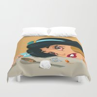 jasmine Duvet Covers featuring Junkie Jasmine by Fransisqo82