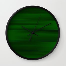 Emerald Green and Black Abstract Wall Clock