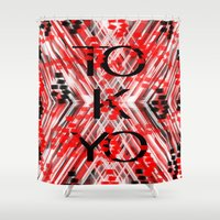 camo Shower Curtains featuring CAMO TOKYO by Chrisb Marquez