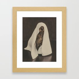 No more showers - Beautiful dog fine art work with a funny twist Framed Art Print
