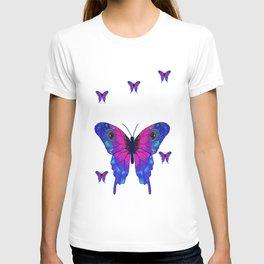 Butterfly Phone Pouch Design Purple T-shirt