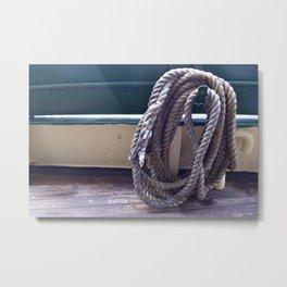 Old Rope Metal Print