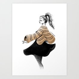 onform sketch Art Print