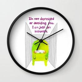 Introvert Wall Clock