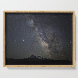 Saturn, Jupiter and the Milky Way over the North and South Sisters Serving Tray