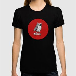 Ride On Owl_red T-shirt