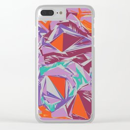 Geometric pattern abstract Clear iPhone Case