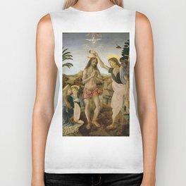 "Andrea del Verrocchio andd Leonardo da Vinci ""Baptism of Christ"" Biker Tank"