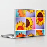 sunflowers Laptop & iPad Skins featuring sunflowers by mark ashkenazi