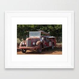 Antique Fire Truck Framed Art Print
