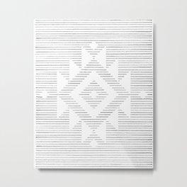 Line art folk pattern Metal Print