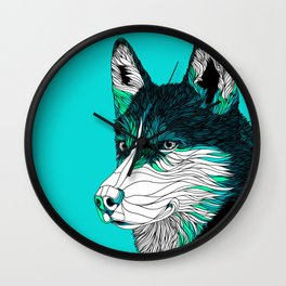 Siberian Husky. Wall Clock
