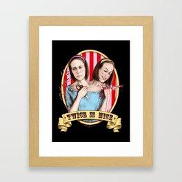 Tattler Twins (color) Framed Art Print