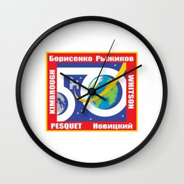 Expedition 50 Patch Wall Clock