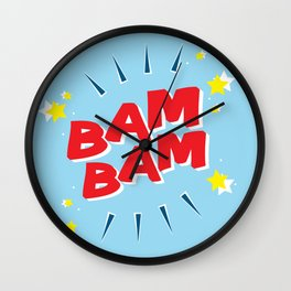Bam Bam Red Wall Clock