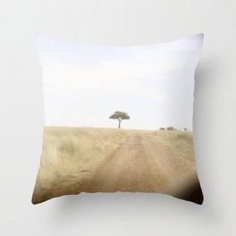 blurred vision::kenya Throw Pillow