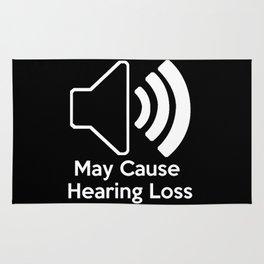 May Cause Hearing Loss Rug