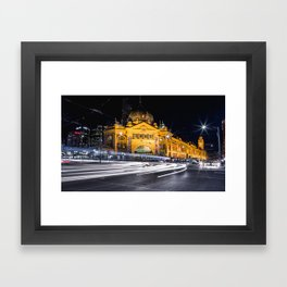 Flinders Street Station Framed Art Print