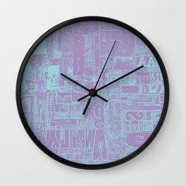 Letter Press Board Wall Clock