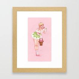 May's Girl Framed Art Print