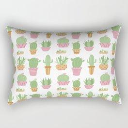 Cactus Plant Pots Rectangular Pillow
