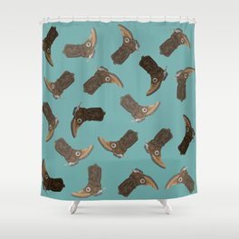 Cowboy Boots - pattern Shower Curtain