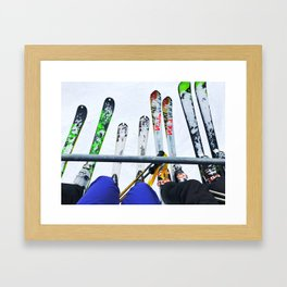 Ski All Day Framed Art Print