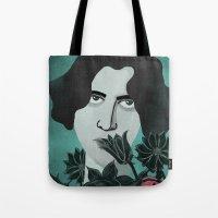 oscar wilde Tote Bags featuring Oscar Wilde by Phantasmagoria