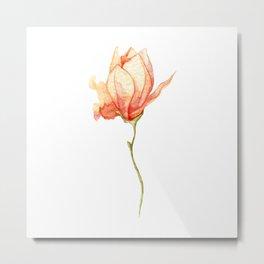 Watercolor magnolia Metal Print