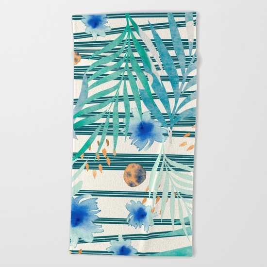 SUMMERTIME STRIPES Beach Towel