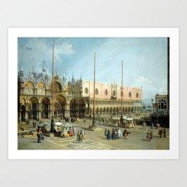 Giovanni Antonio Canal Piazza San Marco Art Print
