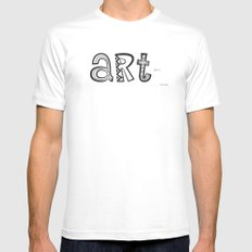 art just is. White MEDIUM Mens Fitted Tee