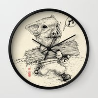 clueless Wall Clocks featuring Clueless by SlothStudio