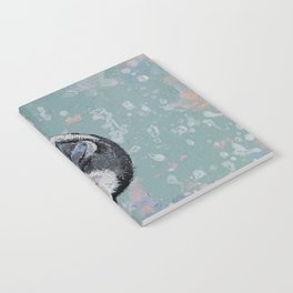 Baby Penguin Snowflakes Notebook
